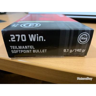 20 balle GECO calibre 270 winchester neuves