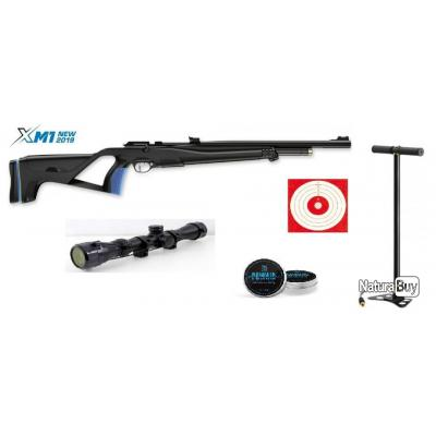 Carabine Stoeger XM1 PCP Cal. 5.5mm + Lunette 4x32 Stoeger + 250 Plombs + Pompe + 20 Cibles