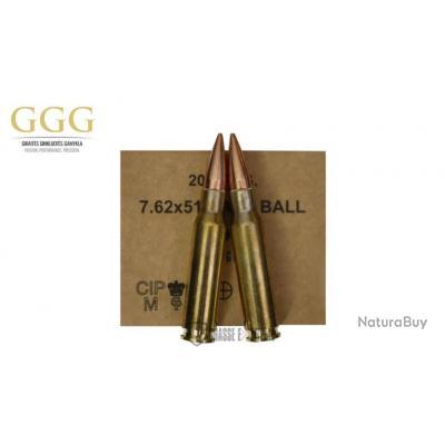 20 MUNITIONS GGG CAL 308 WIN 147 GR FMJ