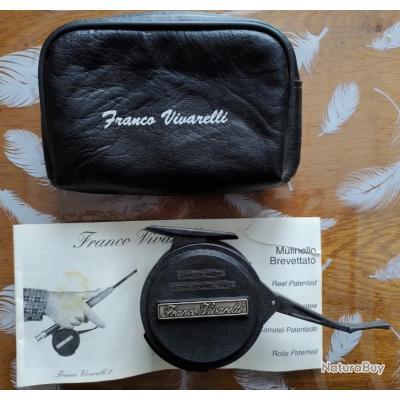 Moulinet mouche Franco Vivarelli 1 semi-automatique avec pochette de transport, soie + notice