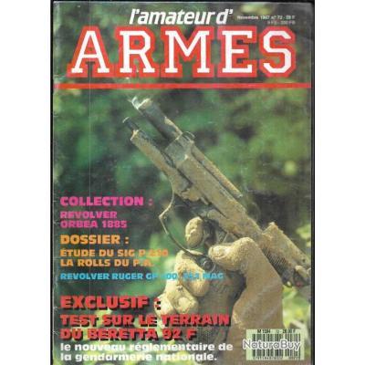 l'amateur d'armes 72 beretta 92 f sur le terrain, revolver orbea 1885, ruger gp 100, viseur ampoint