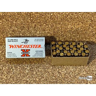 50 munitions 22LR Winchester Super X  Cuivrées , DESTOCKAGE !!!!