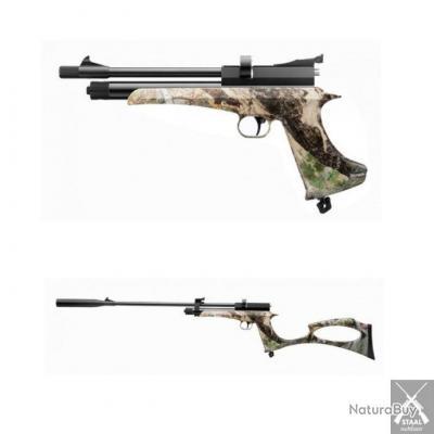 Pistolet Carabine ARTEMIS CP2 CAMO cal. 4,5 mm 6 joules CO2+Crosse+2eme Canon+Silencieux+2 Barrilets