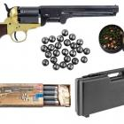 Pack Prêt à Tirer 44 Revolver + Malette + 50 amorces + 50 balles + 12 bourres feutres + 12 charges
