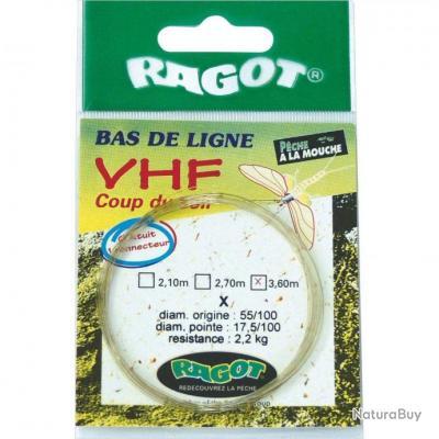 BAS DE LIGNE MOUCHE RAGOT VHF COUP DU SOIR 12 3.60M 4X