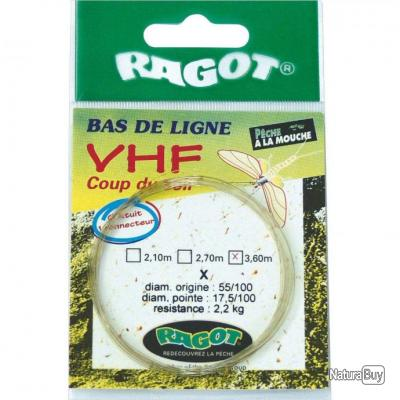 BAS DE LIGNE MOUCHE RAGOT VHF COUP DU SOIR 12 3.60M 5X