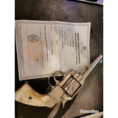 Colt 41 long colt nickelé plaquette nacrePRIX Ferme.