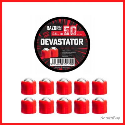 Boîte de 10 balles métalliques pour HR50 Calibre .50 Devastator