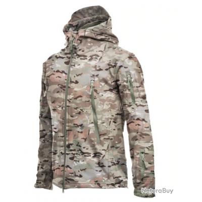 Veste imperméable molletonnée couleur CP 7 tailles disponibles !