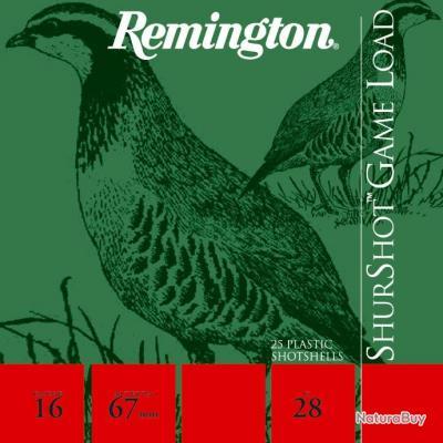 CARTOUCHES REMINGTON SHURSHOT GS C/16/67/12/28GR  8