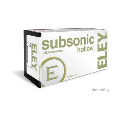 CARTOUCHES ELEY SUBSONIQUE HOLLOW CAL. 22 LR X50