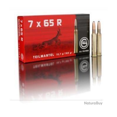Munitions GECO cal. 7x65 R demi blindée Teil Mantel 10.7g 165gr par 20