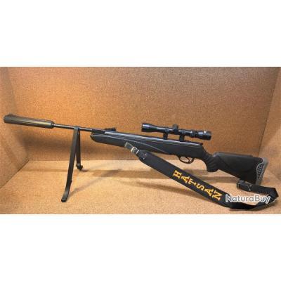 Carabine Hatsan 85 Sniper cal 4.5 + Lunette 3-9X32 + Bipied + 500 plombs 1€ sans prix de réserve !!