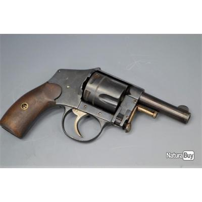REVOLVER HAMMERLESS BARILLET TOMBANT modèle 1893 Calibre 8mm92 - Belgique XIXè Très bon  XIX eme Bel