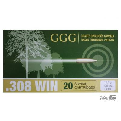 cartouche ggg 175gr hpbt cal 308 win