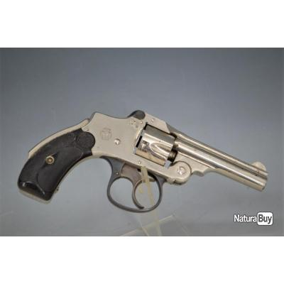 REVOLVER SMITH & WESSON SAFETY 1885 HAMMERLESS 2nd Modèle Calibre 32 S&W court - US XIXè Très bon  U