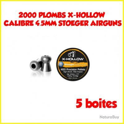 2000 PLOMBS X-HOLLOW CALIBRE 4.5MM STOEGER AIRGUNS