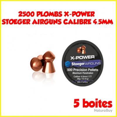 2500 PLOMBS X-POWER STOEGER AIRGUNS CALIBRE 4.5MM