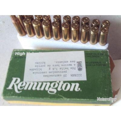 Cartouches 222 remington une boîte de 20 manufacturés High Vélocity
