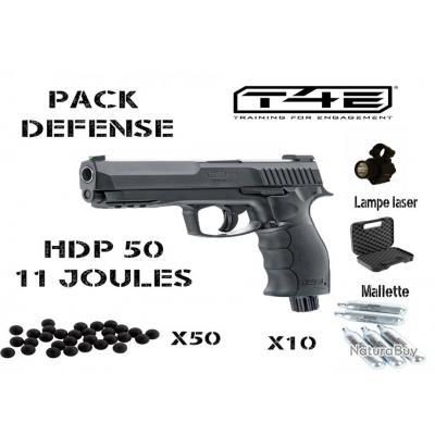 Pack HDP 50 + Lampe laser + 50 billes, 10 capsules