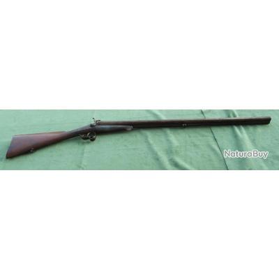 Fusil de chasse juxtaposé  a broche fin XIXe (canons Damas)