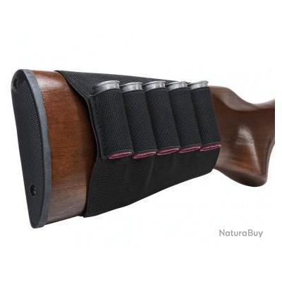 Cartouchiere de crosse fusil elastique 5 cartouches NC STAR