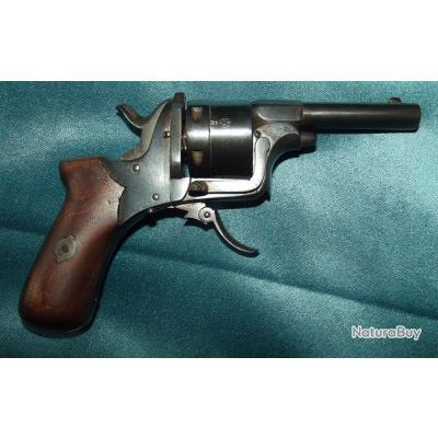 Revolver de type Galand mignon fabrication Liégeoise XIXe