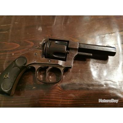 Peu courant Revolver Hopkins & Allen x.l bulldog en 38 sw.