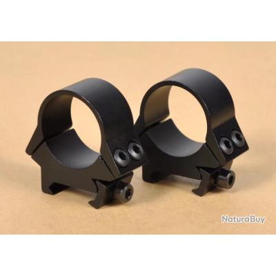 Paire de colliers type Aimpoint diamètre 30 mm