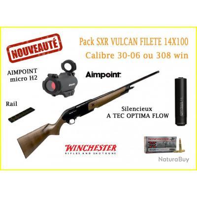 Pack Winchester SXR Vulcan filetée calibre 30-06 ou 308 win + aimpoint + silencieux A TEC 308 Win