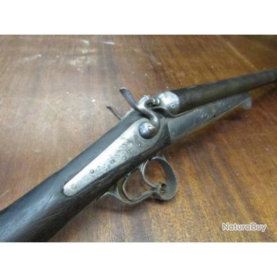 fusil chasse Français cal16 16/65 canons peu de piqures( poudre noire), non éprouvé PV, ST Etienne