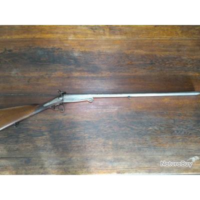 Fusil de chasse juxtaposé à broche calibre 16 - canon Damas - TBE