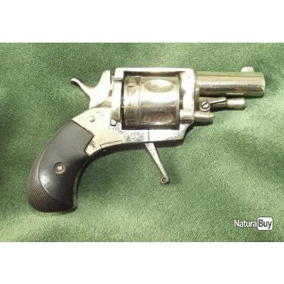Petit revolver bull-dog calibre 320 nickelé de production Liége fin XIXe