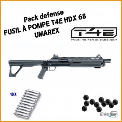 Pack DEFENSE Fusil à pompe T4E HDX 68 d'Umarex 604e47a37673d