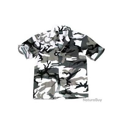 chemise Hawai  camouflage urban - XL
