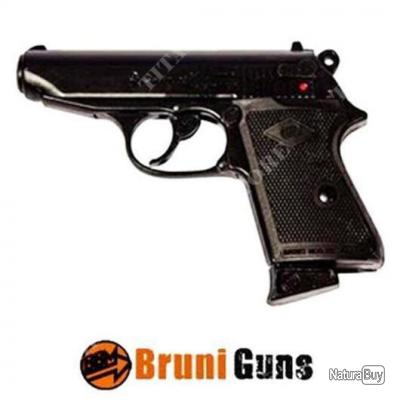 pistolet bruni new police 9mm PAK a blanc + 10 cartouches