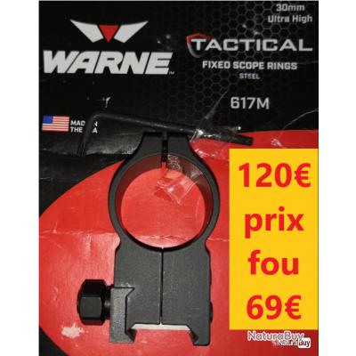 1  SEUL Collier WARNE AR15 Tactical Ø 30 mm Ultra High- hauteur XX       WA617M