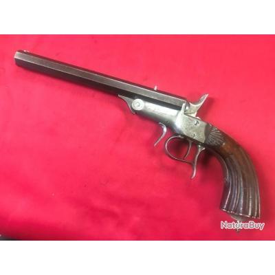 Pistolet de tir J.LECLERCQ type Flobert,cal.6mm (201)