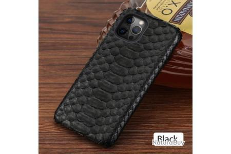 Coque iPhone Serpent Python, Couleur: Noir, Smartphone: iPhone 8