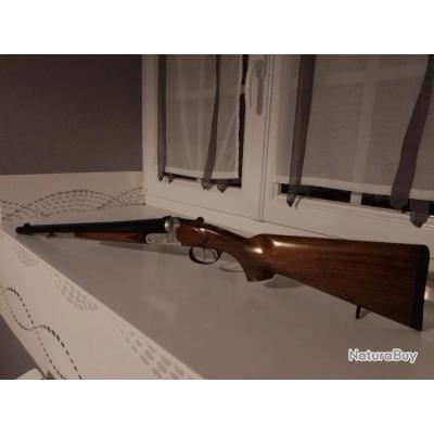 Fusil juxtaposé yildiz de chasse canon court 51 cm type coach gun calibre 12/76.