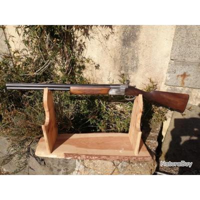Joli fusil superposé artisanal français GUICHARD cal12 en très bon état. À saisir !