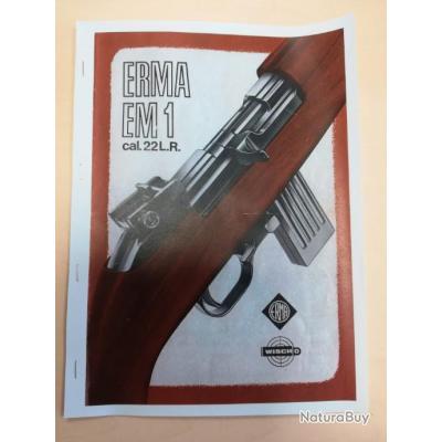 Notice carabine ERMA EM1 22lr