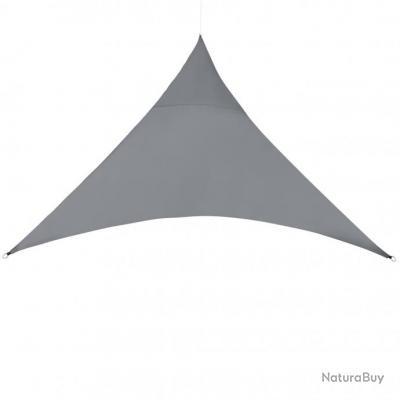 Voile d'ombrage toile solaire polyester polyuréthane triangulaire 500 x 500 x 500 cm gris foncé 03_