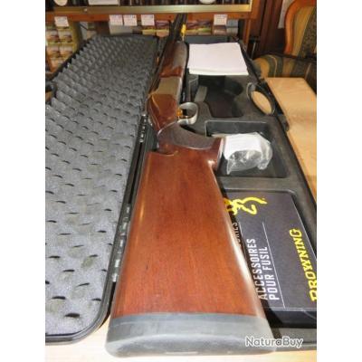 Fusil Browning B525 Trap One 12/76 canons 76cm parfait état avec mallette et accessoires