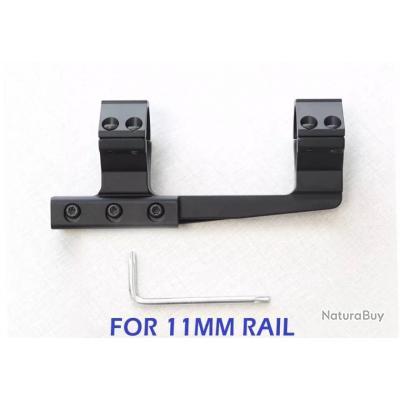 Montage fixe colliers 30mm pour rail de 11 mm