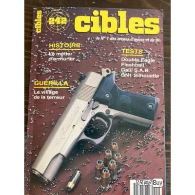 Revue Cibles 242 Galil SAR, Double Eagle, Flashball, GN 1 silhouette, ancion Marx 9,4mm, Campionne