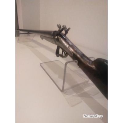 Fusil a broche cal 16/65 sytle LEFAUCHEUX belle gravure et signee