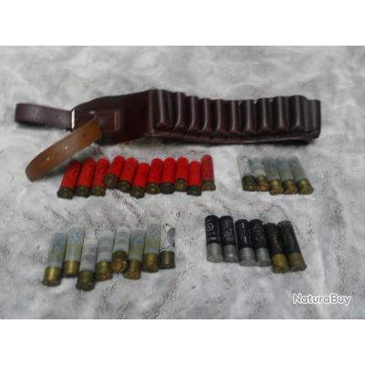 cartouches calibre 16 anciens longueur 6cm