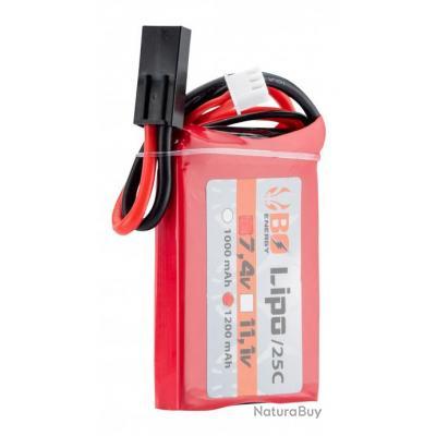 1 stick batterie Lipo 2S 7.4V 1200mAh 25C Peq