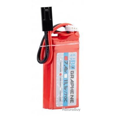 1 stick batterie Graphene 2S 7.4V 1300mAh 70C Lipo